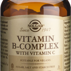 SOLGAR VITAMINA B COMPLEX VIT C 100COMP